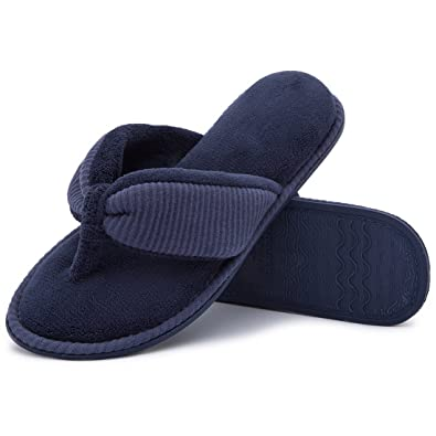 b058399bcfc399 RockDove Women s Memory Foam House Spa Thong Slippers(5-6 B(M)