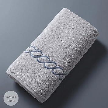 ZLR Toallas bordadas absorbentes absorbentes suaves suaves del agua del hogar de la toalla de la cara del algodón adulto (Color : Gris) : Amazon.es: Hogar