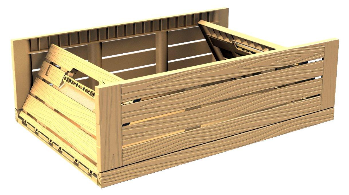 2 Stk Obstkiste Stapelbox Lagerkiste Apfelkiste 600 x 400 x 218 mm Gastlando