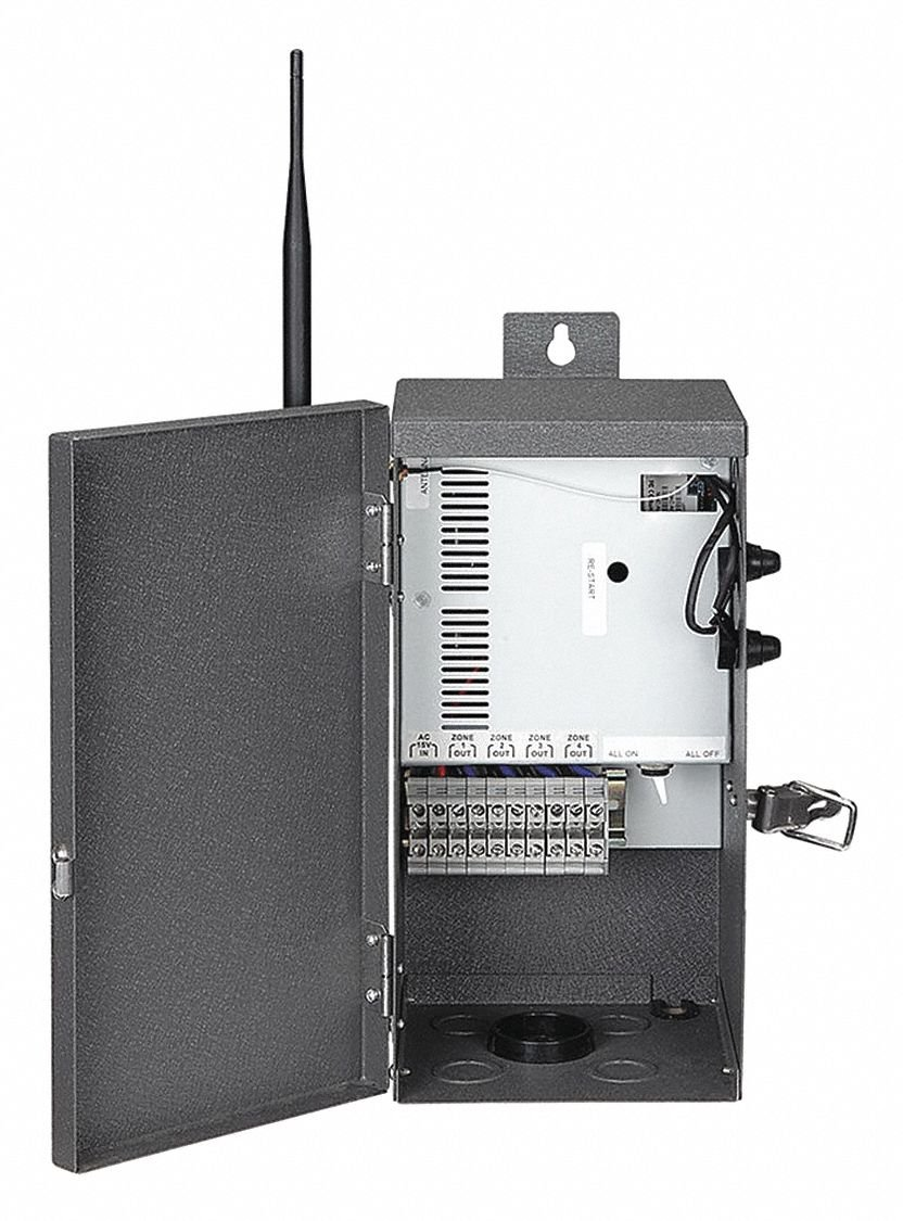 5-5/8'' x 6-3/8'' Steel ZoneScape Lighting Control Box, Dark Gray
