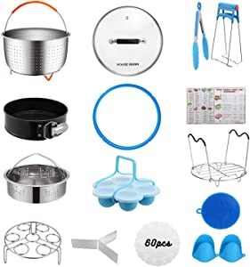 [Best Value Set] House Again Accessories for InstaPot, Universal Compatible with 5/6 Qt Pressure Cookers- Sturdy Steamer Basket with Accessories for All of Life's Need, Dishwasher Safe