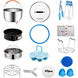 [Best Value Set] House Again Accessories for InstaPot, Universal Compatible with 5/6 Qt Pressure Cookers- Sturdy Steamer Bask