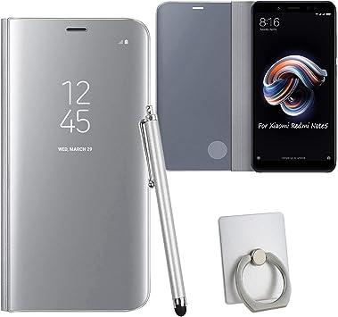 Guran® Mirror Efecto Espejo Funda para Xiaomi Redmi Note 5 Clear ...