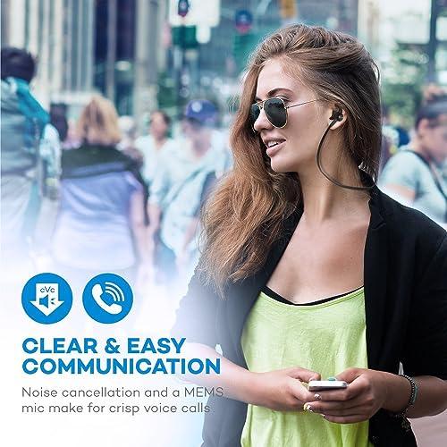 TaoTronics Bluetooth Headphones, Sweatproof Wireless In Ear Earbuds, Sports Magnetic Earphones TT-BH026