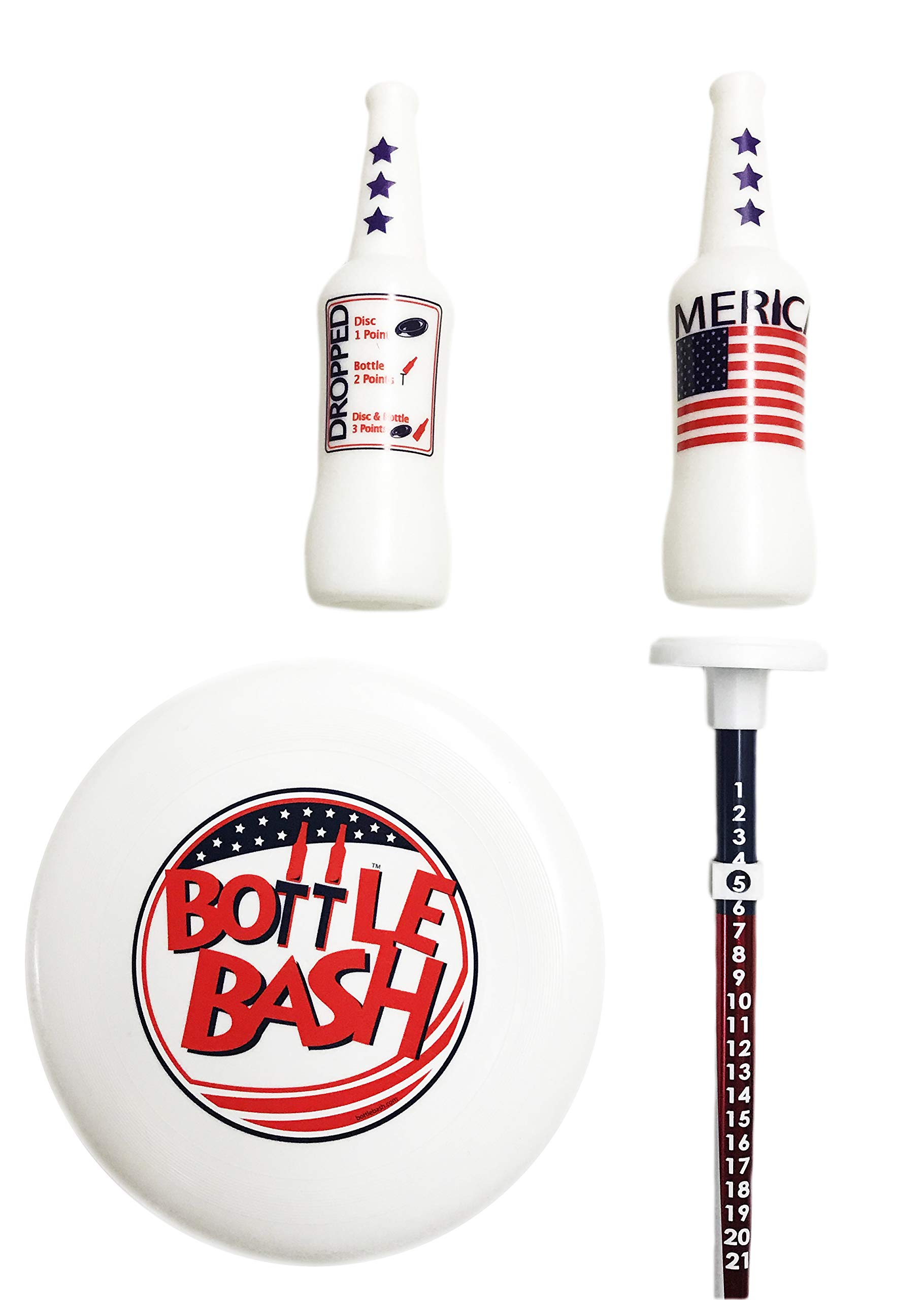 Bottle Bash USA Game Set with Soft Surface Spike (Polish Horseshoes, Beersbee) by Poleish Sports (Image #2)