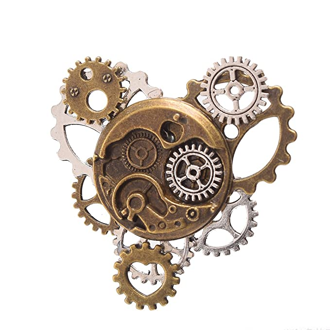 Steampunk Jewelry – Necklace, Earrings, Cuffs, Hair Clips BLESSUME Unisex Steampunk Brooch Lapel Pin  AT vintagedancer.com