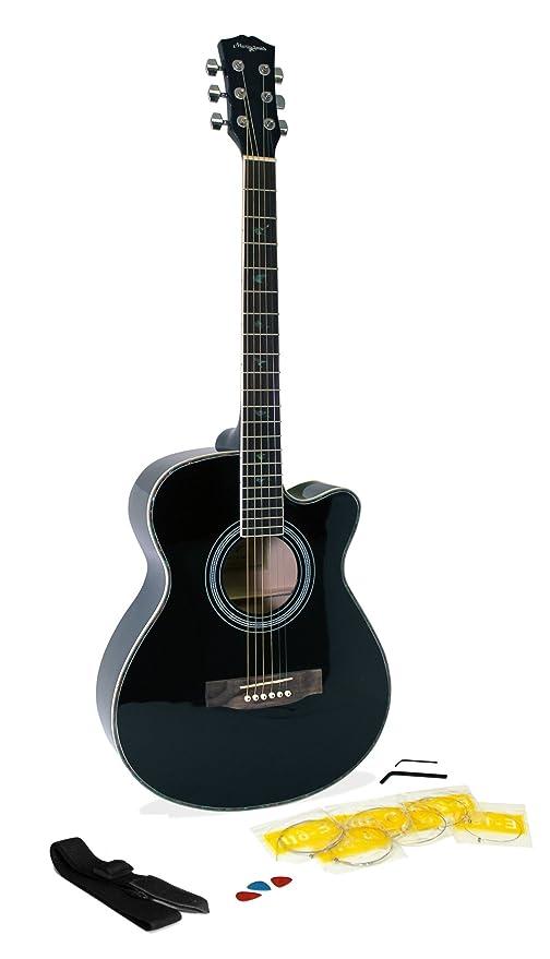 Martin Smith W-401E-BK Guitarra acústica eléctrica - color negro