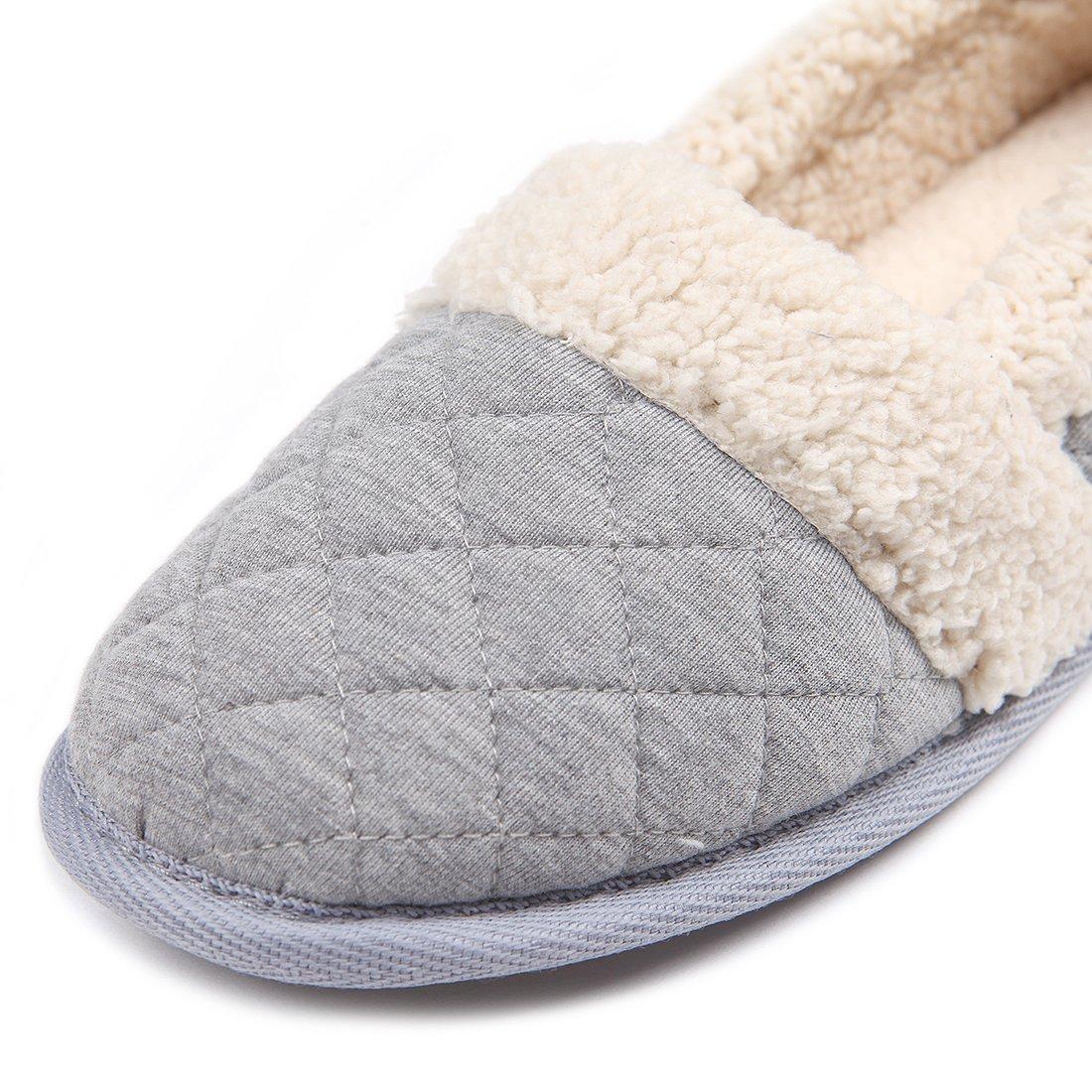 24b794f327c8 ChicNChic Women Plush House Slippers Ladies Non Slip Indoor Winter Bedroom  Shoes (9-10 B(M) US