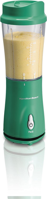 Hamilton Beach - Licuadora personal con tapa de viaje, color verde ...