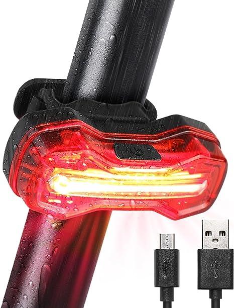 Albrillo Luz Trasera de Bicicleta LED, Luz Bicicleta Luz Trasera ...