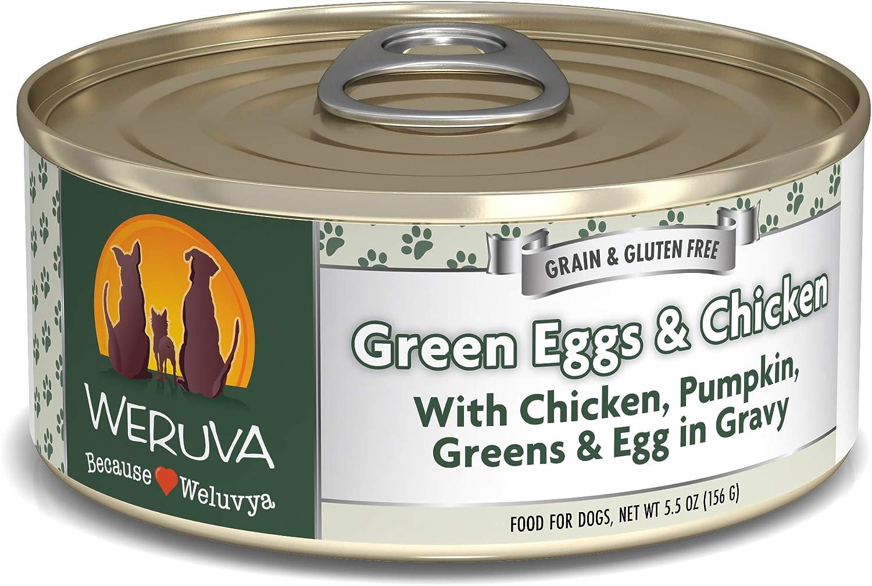 Weruva Classics Green Eggs & Chicken with Chicken, Pumpkin, Greens & Egg in Gravy Wet Dog Food