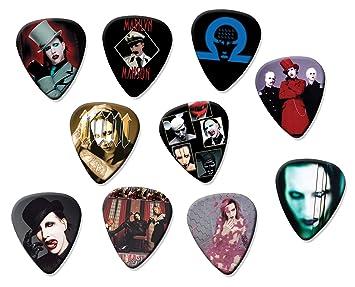 Marilyn Manson Classic Set de 10 púas de guitarra eléctrica o acústica: Amazon.es: Instrumentos musicales