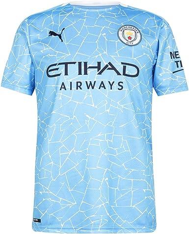 PUMA Manchester City Temporada 2020/21 - Home Shirt Replica SS with Sponsor Camiseta Primera Equipación Unisex Adulto: Amazon.es: Deportes y aire libre