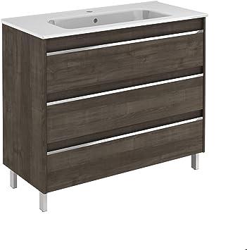 Belle 100 Free Standing Bathroom Vanity Unit In Samara Ash Amazon Com