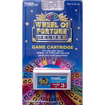 Tiger Wheel of Fortune Deluxe Game Cartridge #3: Toys & Games