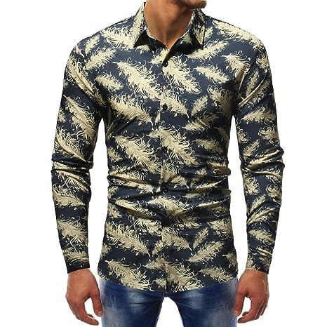 Camisas hombre Estilo de invierno de los hombres de manga larga blusa de impresión,YanHoo