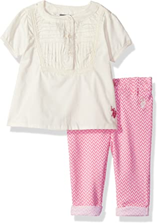Girls/' Fashion Top and Pant Set Polo Assn U.S