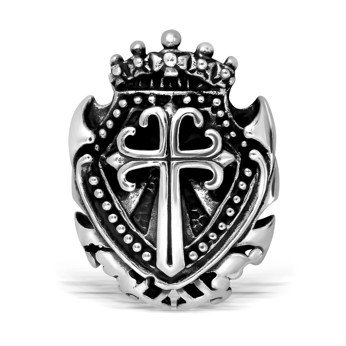 WithLoveSilver Sterling Silver Armor of God Shield Cross Pendant