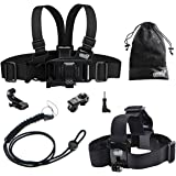 EEEKit Gift Pack For VTech Kidizoom Kid Action Cam,Head Strap Mount,Junior Child Kid Chest Body Harness Mount,Neck Strap,Storage Bag