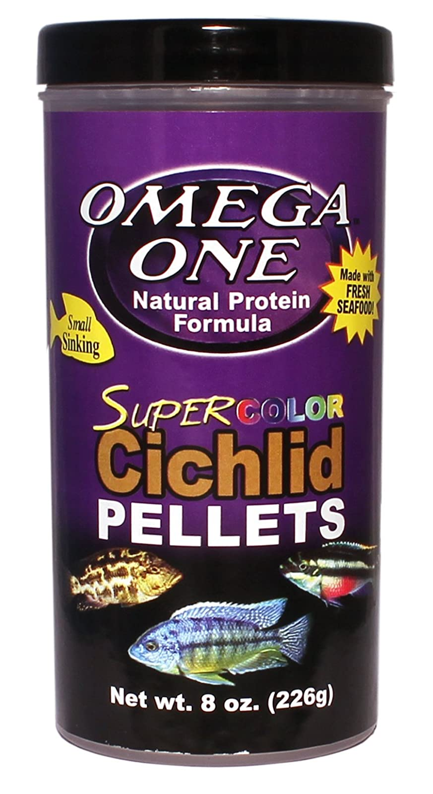 Omega One Super Color Cichlid Small Pellets 8oz 53432 - 1