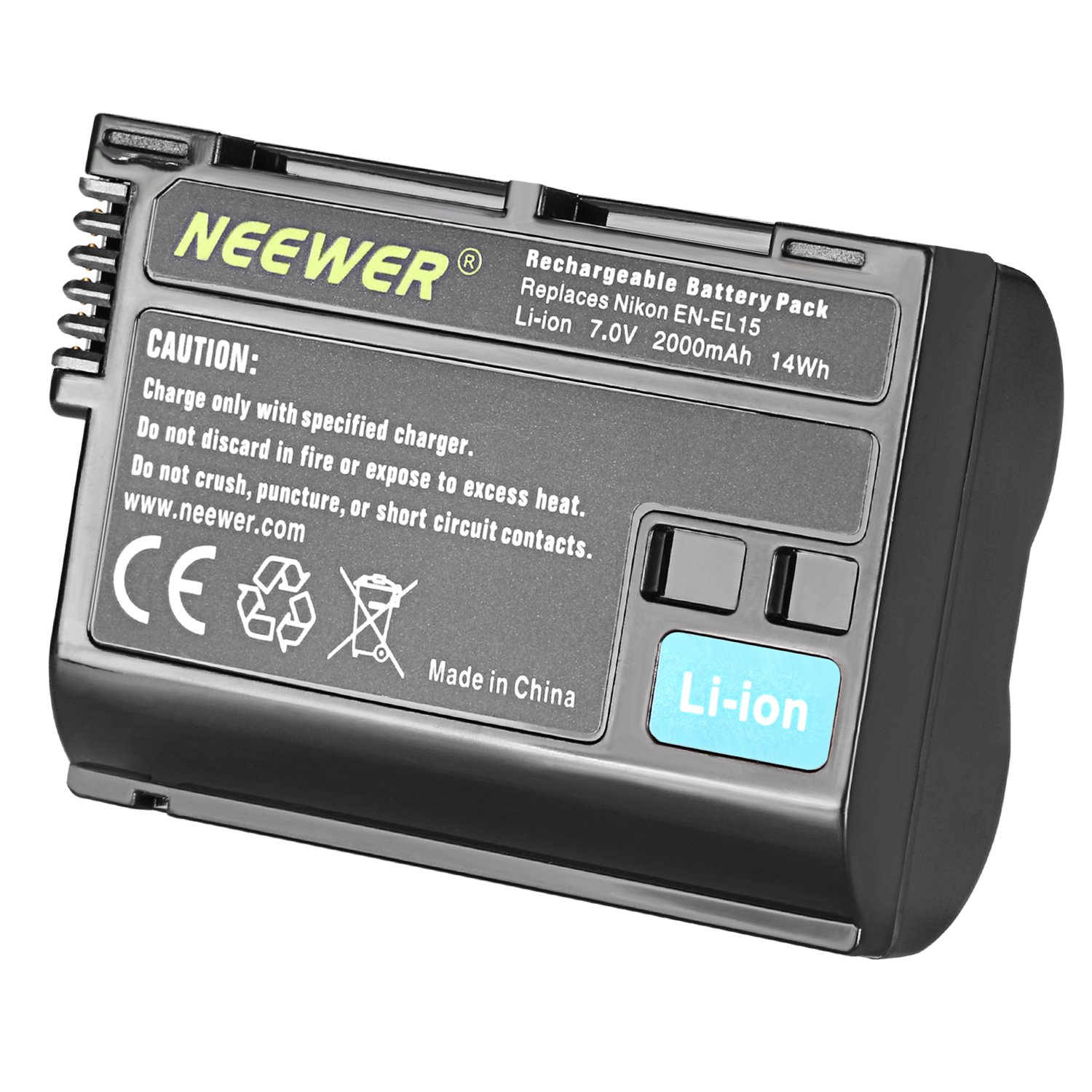 Neewer En El15 Replacement Battery For Nikon D7000 D800 Imaging Products Parts And Controls D800e V1 Mb D11 D12 Digital Camera Batteries Photo