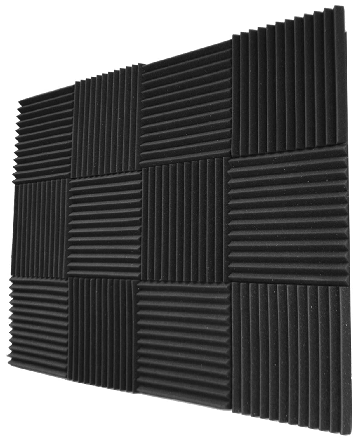 12 Pack- Red/Charcoal Acoustic Panels Studio Foam Wedges 1 X 12 X 12 Foamily 4334435805