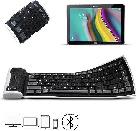 X-Tab - Teclado Bluetooth para Tablet Huawei MediaPad T5 Mini (Silicona, Flexible, portátil, inalámbrico, Lavable), Color Negro: Amazon.es: Informática