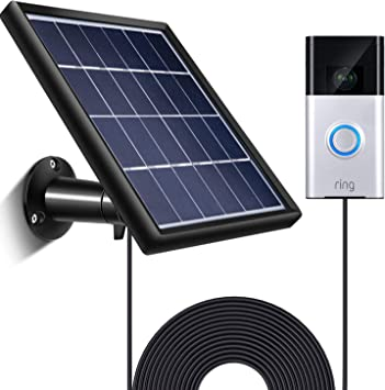 Output No Include Camera Waterproof Charge Continuously 5 V// 3.5 W Includes Secure Wall Mount 3.6 M//12 ft Power Cable Max SATINIOR Solar Panel Compatible with Ring Video Doorbell 1