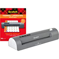 """Scotch Thermal Laminator and Pouch Bundle, 2 Roller System, Laminate up to 9"""" Wide (TL901X) with Scotch Laminating…"""