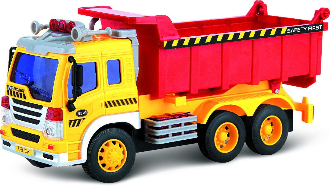 Toy Trucks For Boys : Toy dump truck lights sound push go friction for