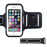 Mpow iPhone 6 6s iPhone 7 8 Armband, [Ultra Comfortable] Adjustable Sports Armband Sweatproof Running Phone Holder for iPhone 6 / iPhone 6s (4.7 inch) With Key Slots for Gym, Running, Biking, Hiking, Workout and other Sports, Black