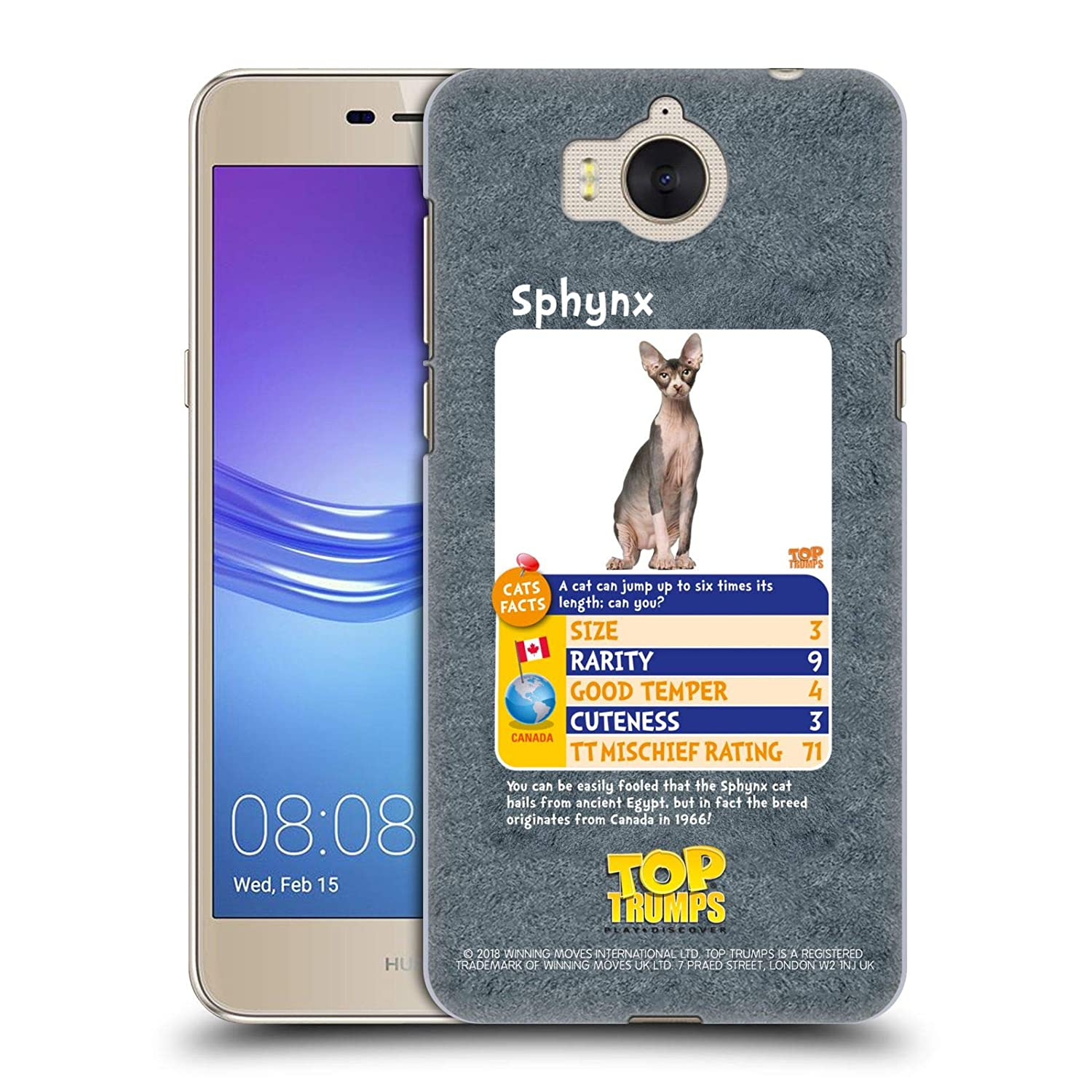 Amazon.com: Official Top Trumps Sphynx Cats 2 Hard Back Case ...