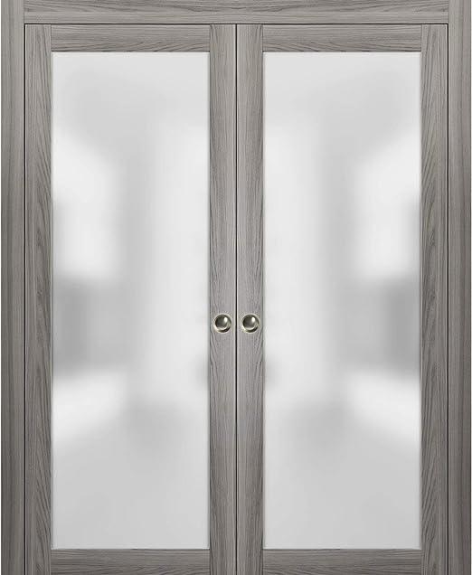 Amazon Com Modern Double Pocket Closet Glass Doors 72 X 80