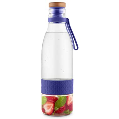 Ello Zest Glass Infuser Bottle 20 Oz