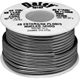 Oatey 50193 Acid Core Wire Solder, 0.5 Lb Carded, Solid, Gray, 1