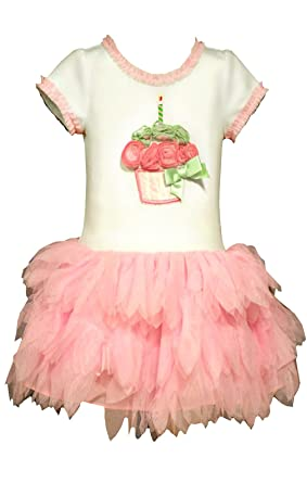 167fcb28562f Amazon.com: Bonnie Jean Little Girls First Birthday Cupcake Dress: Clothing