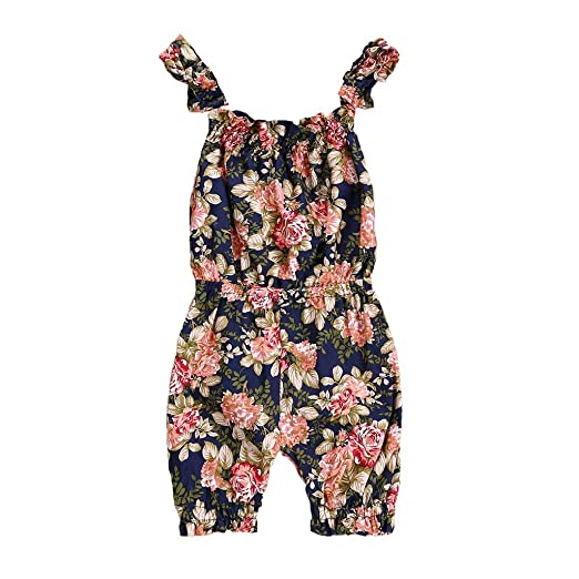 329c7fd499e2 Amazon.com  Baby Girl Romper Outfit Set