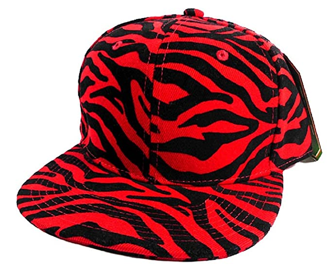 3c225b0c416 Image Unavailable. Image not available for. Color  Red   Black Zebra Print  Snapback