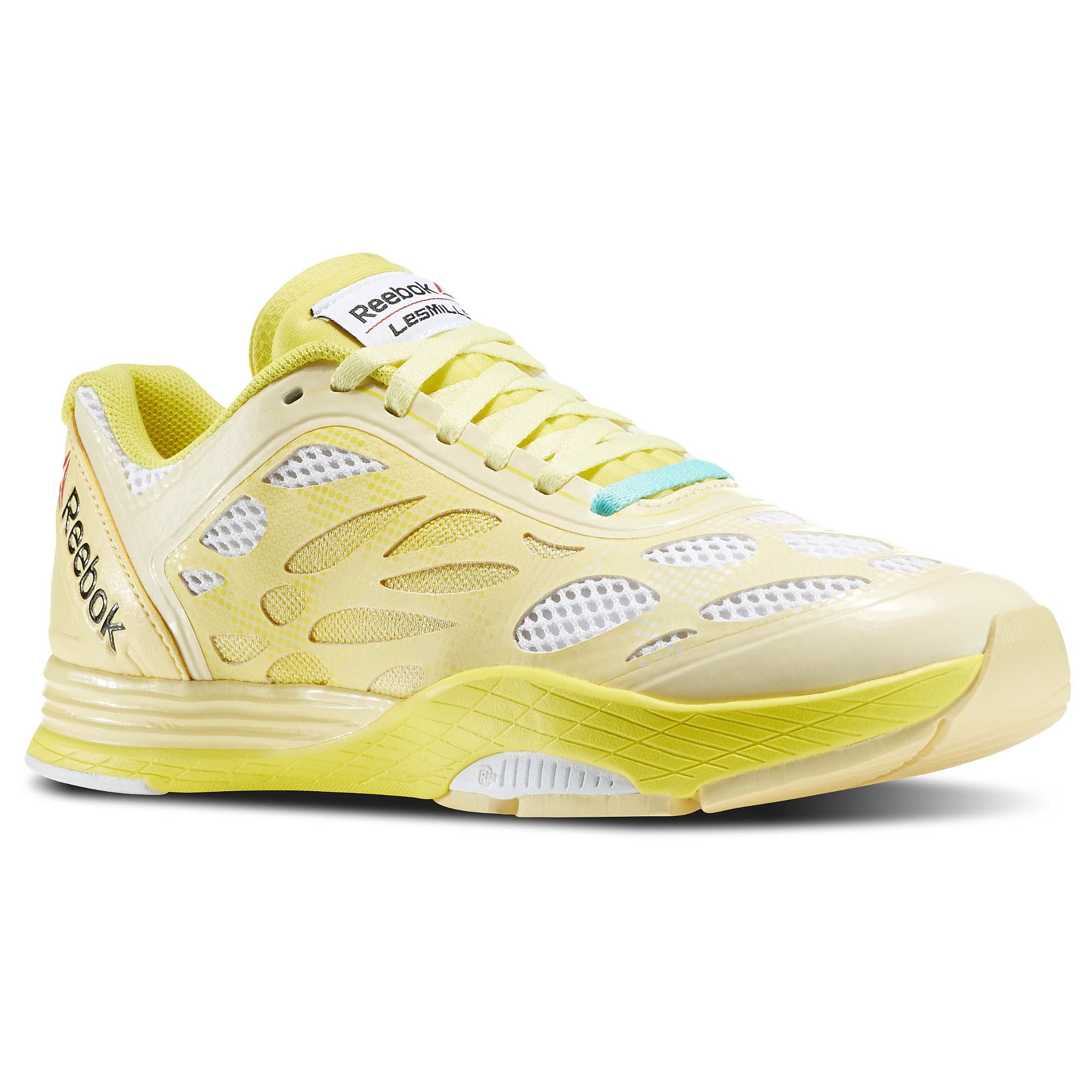 Reebok Women's LM Cardio Ultra White/Yellow Filament Ankle-High Running Shoe - 10M