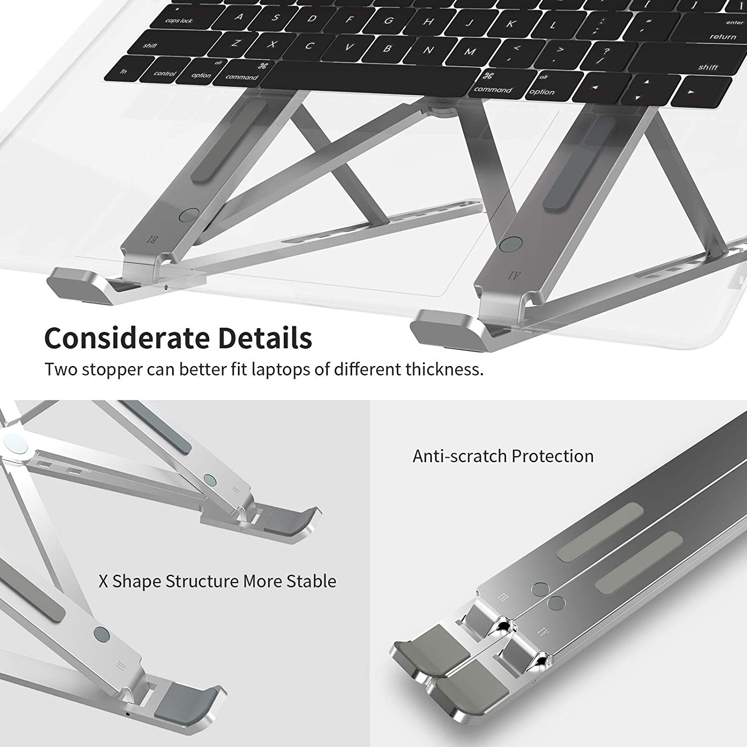 Multi Charger Cable 2 in 1 iPhone and Android USB C Charging Cable Romoss Portable Laptop Stand