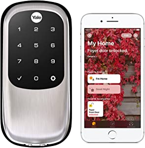 Yale Security YRD246-iM1-619 Assure LOCK Yale Assure LOCK Key Free with IM1 Network Module (Homekit-Enabled) In (YRD246), Satin Nickel