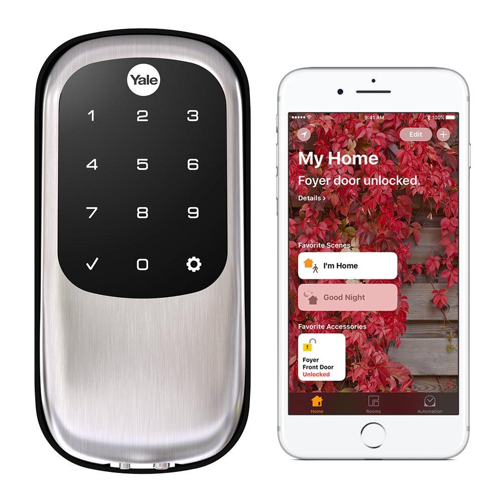 Yale Assure Lock Key Free Touchscreen with iM1 - HomeKit Enabled - Works with Siri - Satin Nickel (YRD246iM1619)