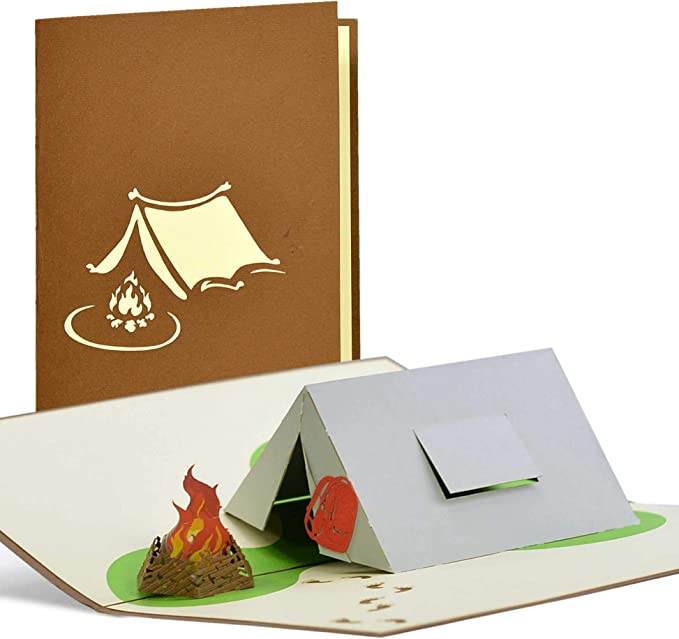 Pop Up Gift Voucher Camping Birthday Card Voucher For Camping Father S Day Gifts Birthday Gift Ideas H21 Amazon Co Uk Office Products