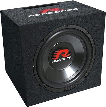 Renegade RXV1200 - Subwoofer (50 mm, 300 W RMS, 4 Ohm, 91 dB SPL), Color Negro: Amazon.es: Electrónica