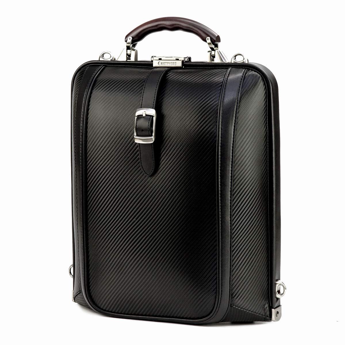 [アートフィアー] ダレスバッグ ニューダレス テック 豊岡鞄 牛革 カーボン メンズ DS4-TE  1.ブラック B076HG51PL