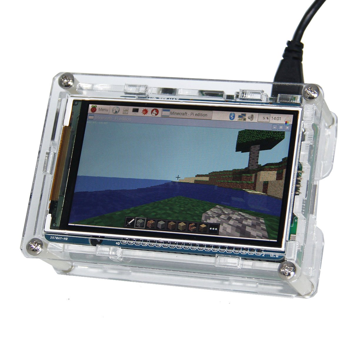 Raspberry Pi 3 Screen Geekworm 60 Fps 800x480 High Wiringpi Library Sudo Make Command Not Found Build 59 Resolution 35 Inch Hd Speed Tft Display Shield With Case For