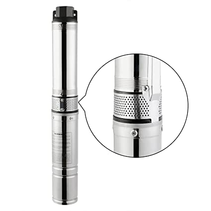 OrangeA Deep Well Submersible Pump 25GPM Stainless Steel Deep Well Pump  0 5HP 150ft Submersible Well Pump for Industrial and Home