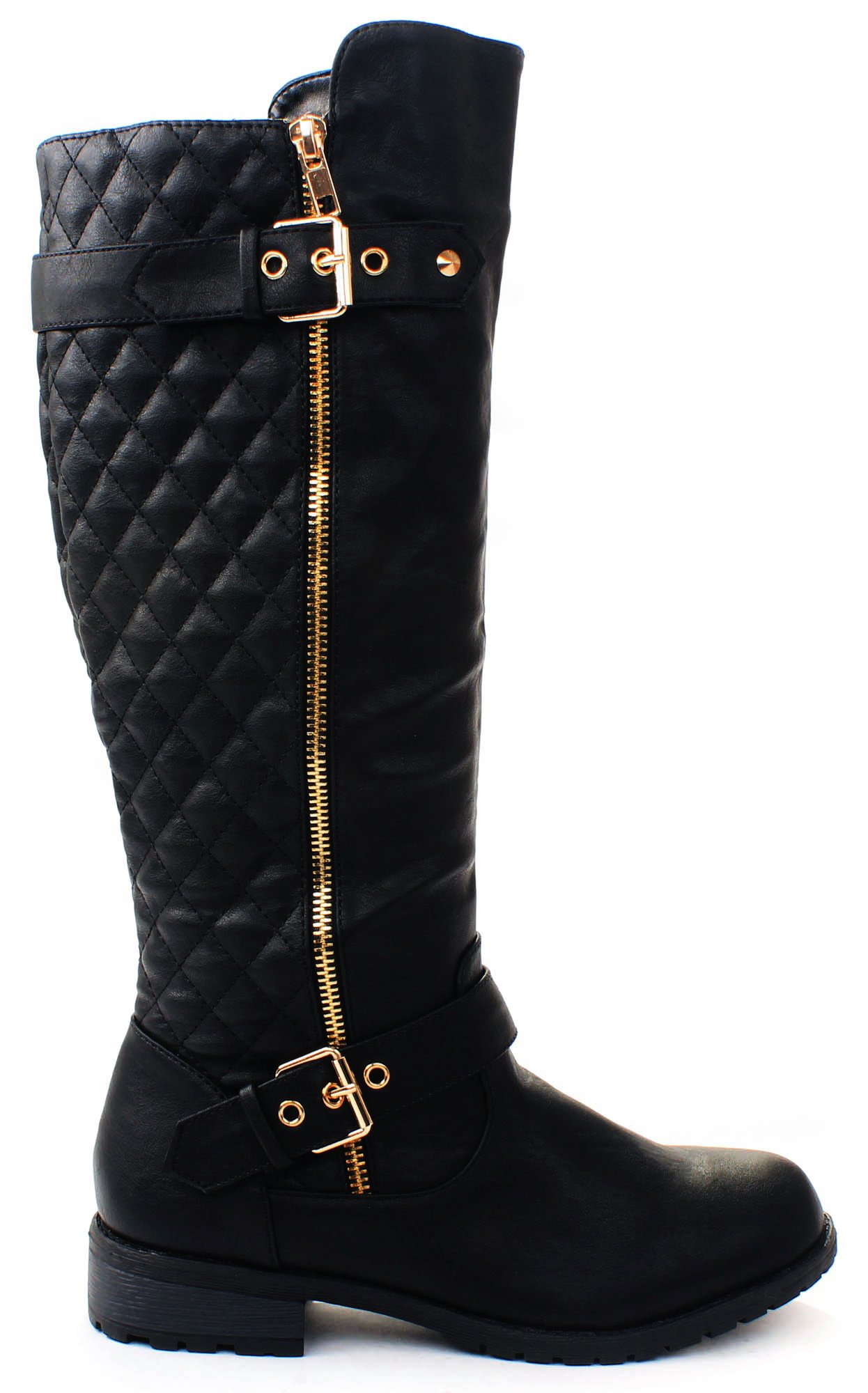 Forever Link Mango-21 Lady Boot (6.5, Black)