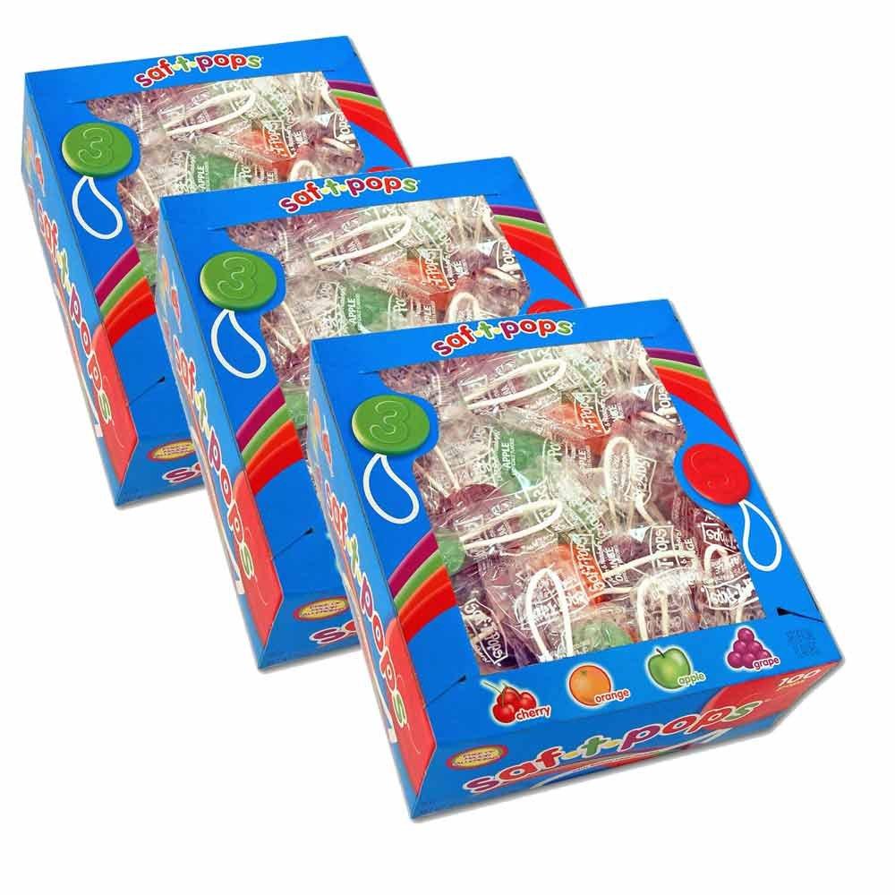Saf-T-Pops 3-100 count boxes by Saf-T-Pops