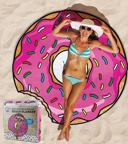 Toalla de playa grande donut donut gigante 150 cm. *07814 accesorios piscina playa: Amazon.es: Hogar